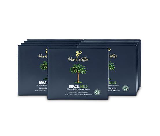 Privat Kaffee Brazil Mild - 9 x 500 g Gemahlen