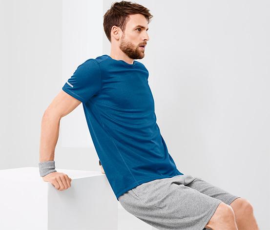 Spor Tişört, Kırçıllı Mavi