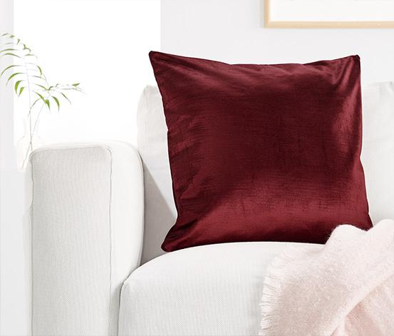 Dekoratif Yastık Kılıfı, Koyu Kırmızı