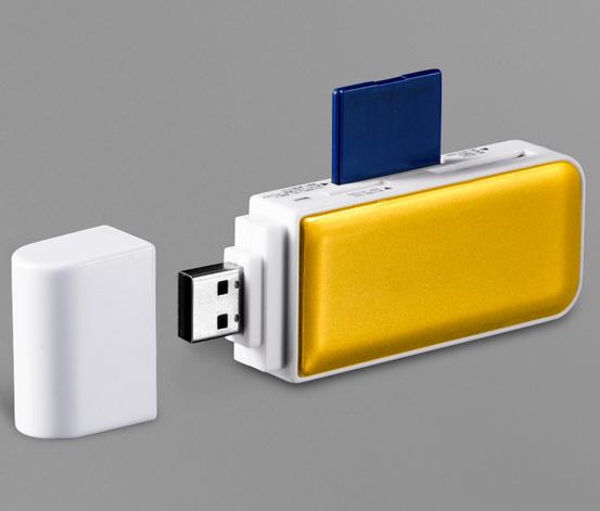 USB-Kartenleser, Gelb