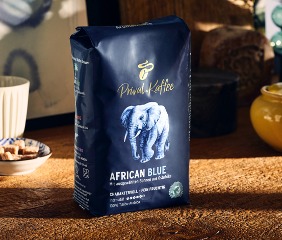 Privat Kaffee African Blue – Ganze Bohne