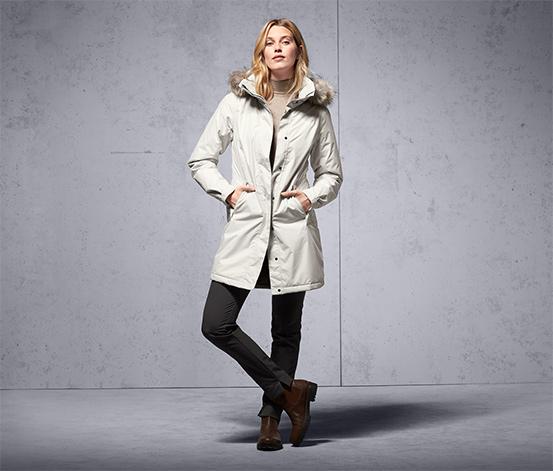Női termo kabát, törtfehér