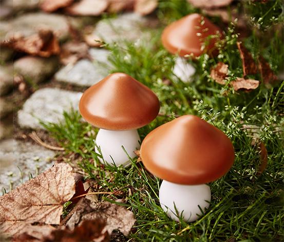 Solar-LED-Lichterkette »Pilze«