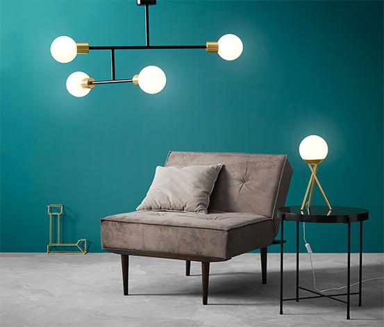 Lampa sufitowa LED, kule