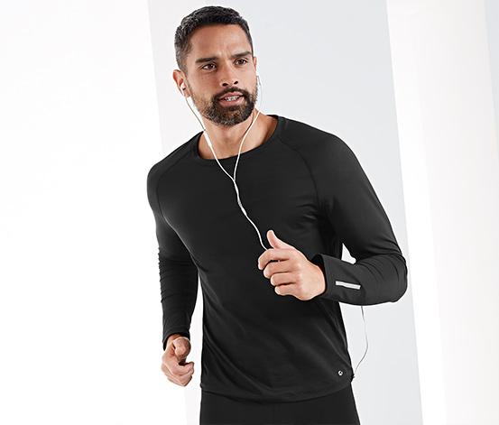 Męska koszulka funkcyjna z długim rękawem