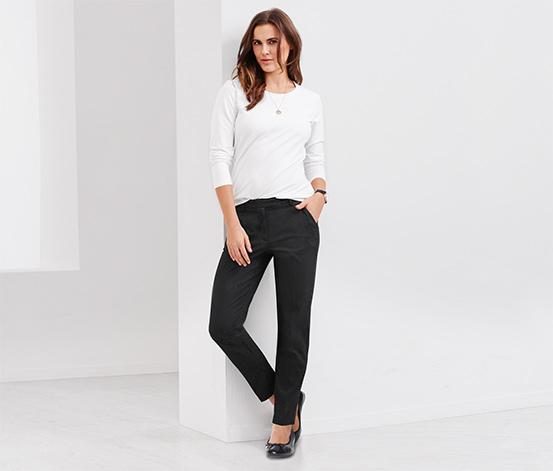 Női nyomott mintás nadrág, fekete
