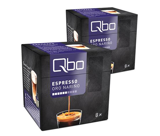 Qbo Espresso Oro Nariño – 2x8 Cups