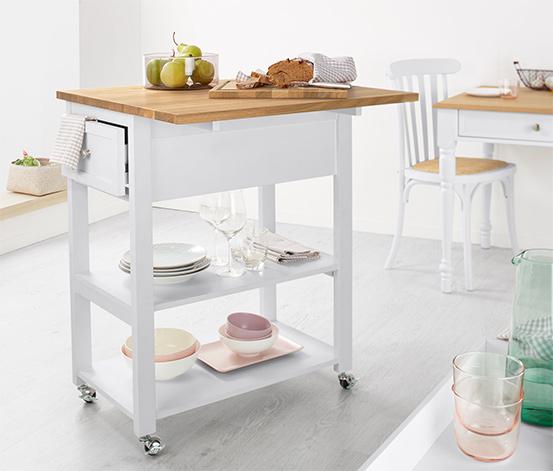 Kuchenny stolik roboczy i wózek do serwowania