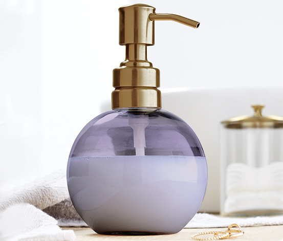 Distributeur de savon en verre