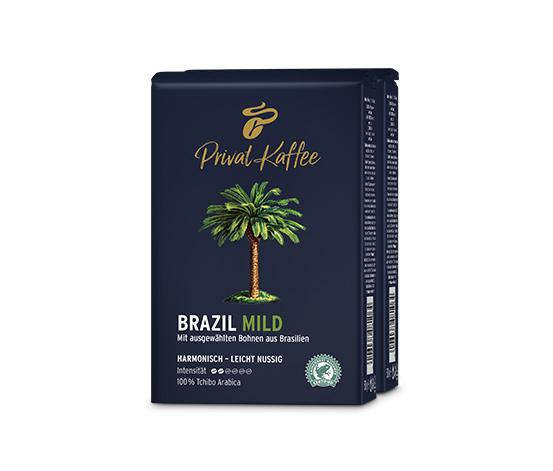 1 kg Privat Kaffee Brazil Mild - Ganze Bohne
