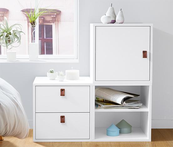 Fiókos tároló modul, fehér