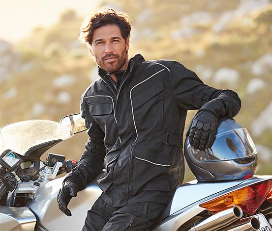 Herren-Motorradjacke