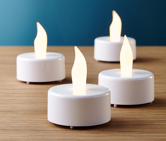 4 Adet LED'li Tealight Mum