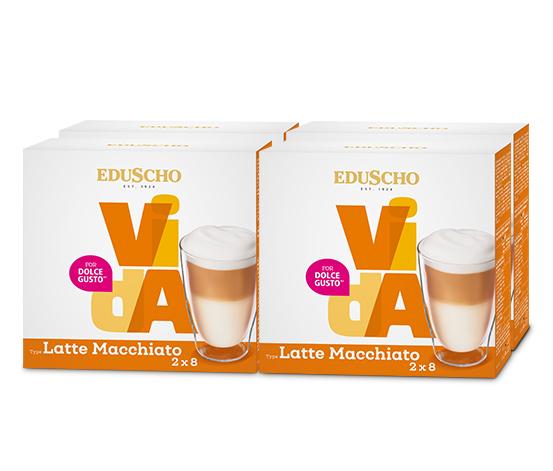 EDUSCHO VidA Latte Macchiato – 2x 32 Kapseln (64 Kapseln)