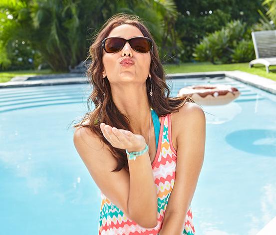 Sonnenbrille mit Sehstärke, dunkelbraun