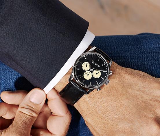 Leder Automatik Armbanduhr