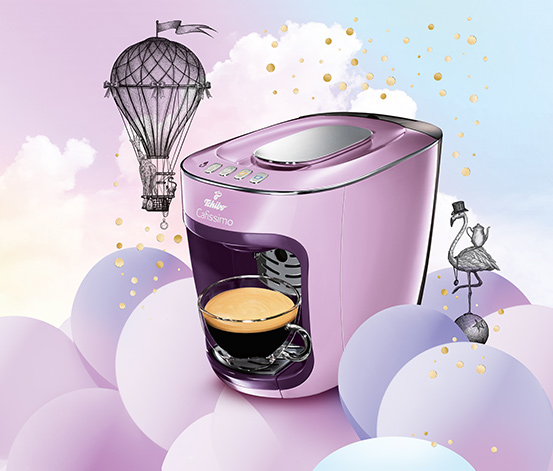 Cafissimo mini, poetry purple