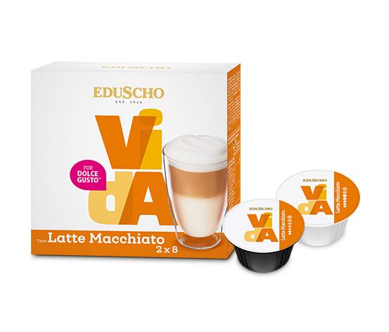 EDUSCHO VidA Latte Macchiato – 2x 8 Kapseln (16 Kapseln)
