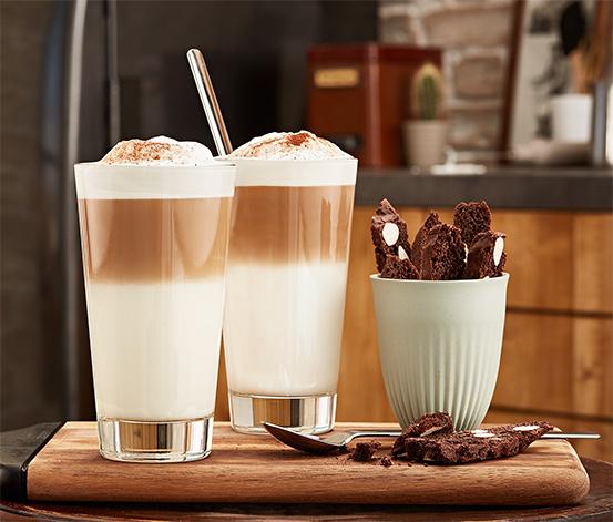 Łyżeczki do kawy latte macchiato ≪barista≫, 4 sztuki
