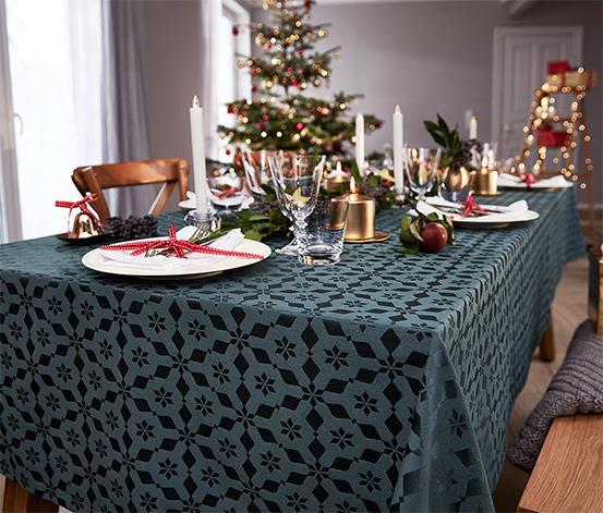 Jacquard asztalterítő, antracit, 150x275cm