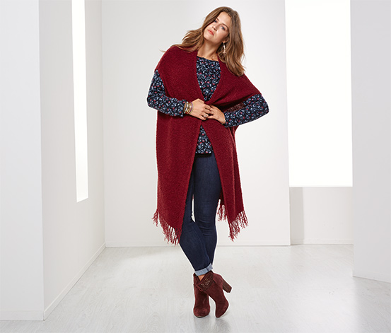 Poncho, rouge