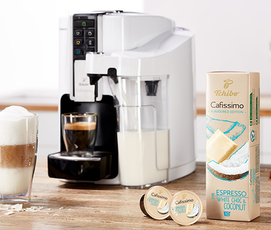 NEU: Flavoured Sommer-Edition Espresso White Choc & Coconut –  80 Kapseln