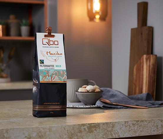 Qbo Premium Coffee Beans »Kooperative Fedecos« Filterkaffee Mild, Ganze Bohne