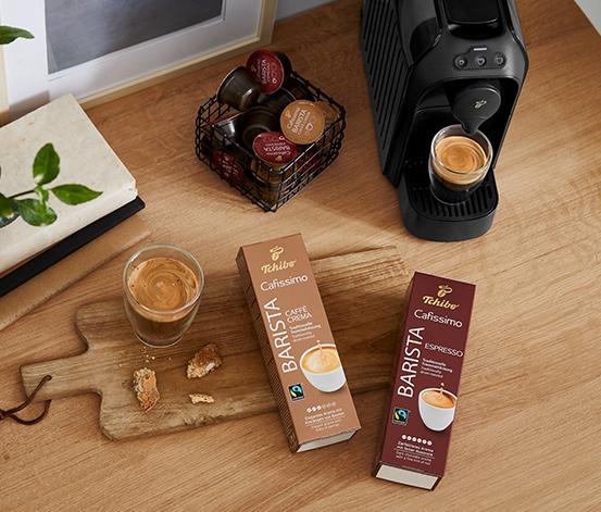 Set aus 10er Kapseln Barista Espresso und Caffè Crema