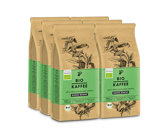 BIO KAFFEE – 6 x 250 g hela bönor
