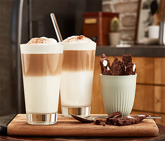 Lyžičky na latte macchiato, 4 ks