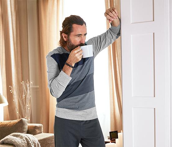 Pijama Takımı, Gri-Mavi