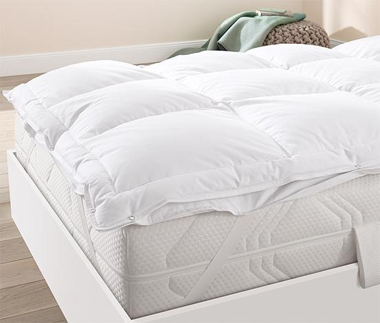 Kétrétegű pehely matracvédő, 90x200 cm