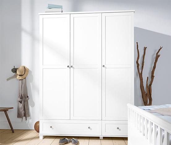 3 Kapılı Elbise Dolabı, Beyaz