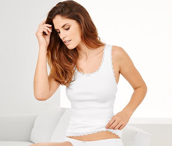 Női trikó, fehér