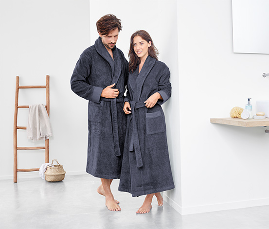 Płaszcz kąpielowy z tkaniny frotte