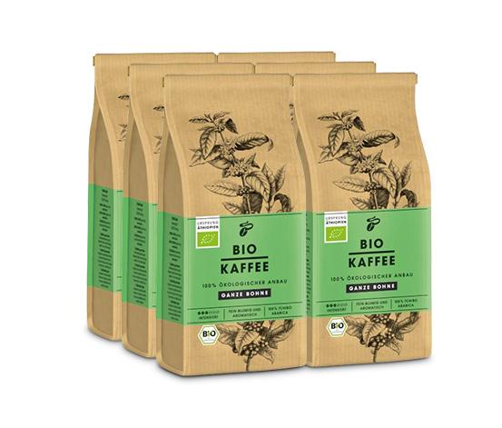 BIO KAFFEE – 6 x 250 g Ganze Bohne