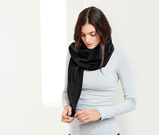 Microfleece-Schal, schwarz