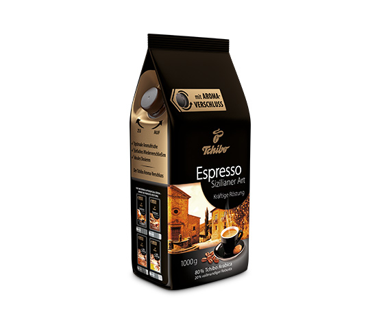 Espresso Sizilianer Art – 1 kg hela bönor