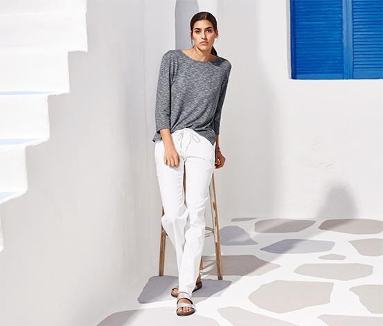 Spodnie z lnu i bawełny