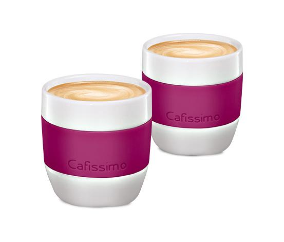 Šálky na caffè crema mini Edition, berry, 2 ks