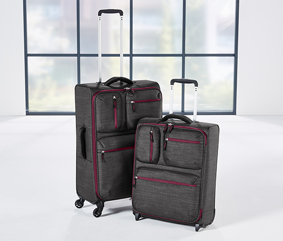 Valise textile poids léger, taille moyenne