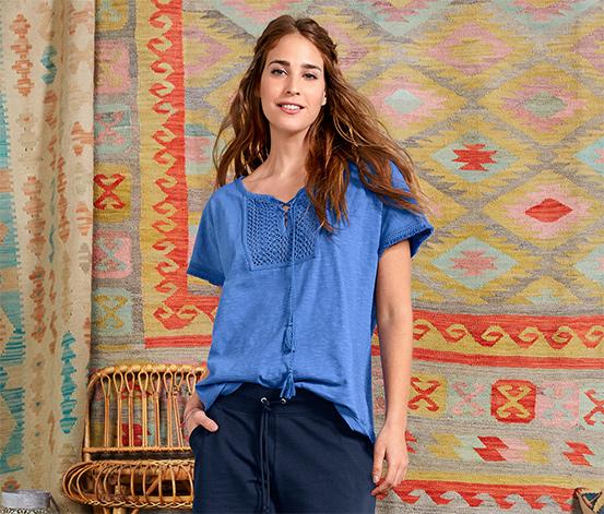 Açık Mavi Organik Pamuklu Tunik Tişört