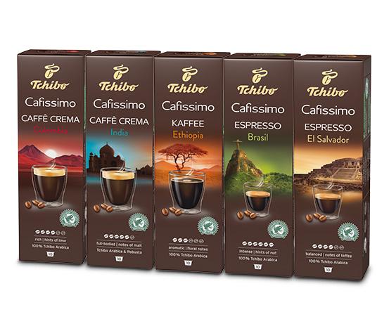 Set: Länderkaffee 5x 10 kapslar