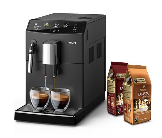 Philips HD8827/01 3000 Serie Kaffeevollautomat, schwarz (inkl. Gratis-Kaffee)