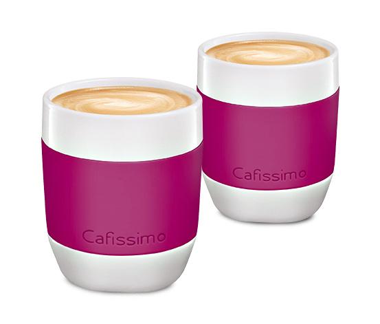 Šálky na kávu mini Edition, berry, 2 ks