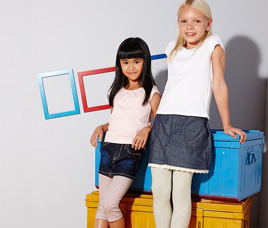 2 lányka leggings szettben, szürke