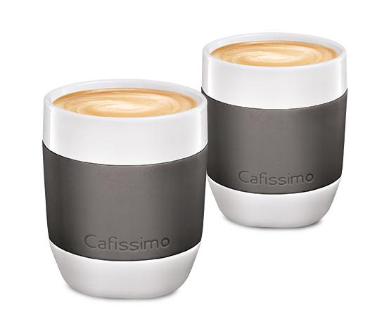 Šálky na kávu mini Edition, sivé, 2 ks