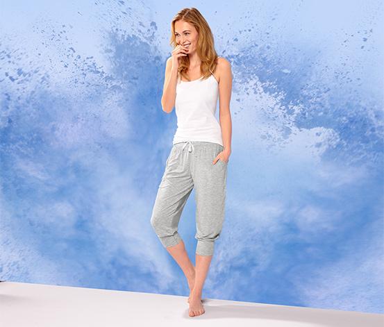 Spodnie rekreacyjne o długości 3/4, szare nakrapiane