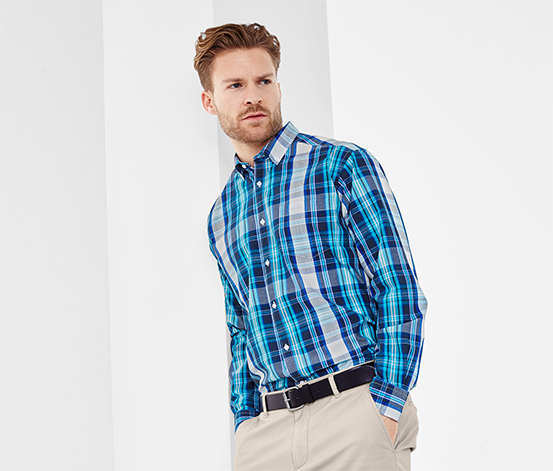 Férfi ing, kék-fehér