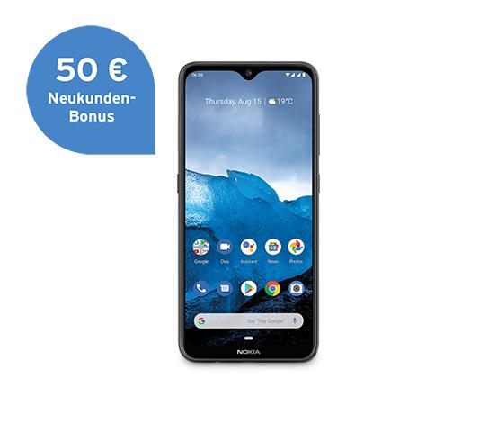 Nokia 6.2 64GB (schwarz), inkl. 20 € Tchibo Gutschein